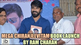 Mega Chiranjeevitam book launch by Ram Charan