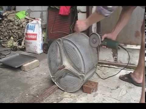 Как сделать коптилку из стиральной машинки