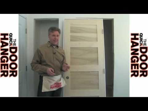 how to hang a door prehung