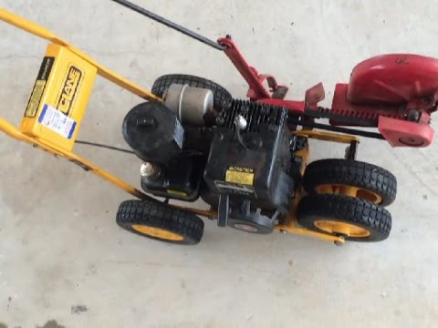 Mclane edger 3 hp GOODWILL find - Cold start (видео)