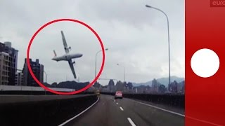Images du crash du 4 février 2015 à Taiwan