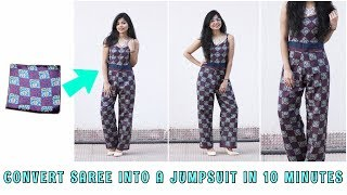 Convert Saree Into A Jumpsuit In 10 Minutes