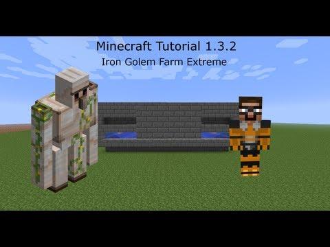 Minecraft Tutorial - Iron Golem Farm (works in 1.4.4) - 256 Iron Per Hour!