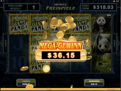 Untamed Giant Panda Slot  - Freespin Feature  - Super Mega Wins (675x Bet)