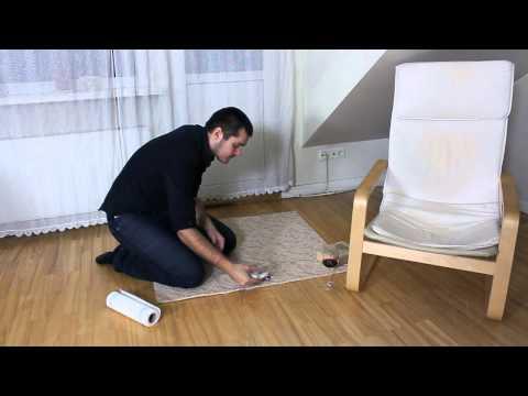 Kā iztīrīt sarkanvīnu no paklāja