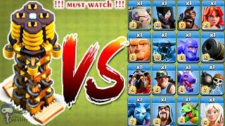 Max Tesla vs all Troops - Clash of clans | Hidden Tesla | Coc Reality