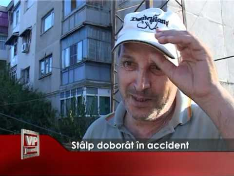 Stalp doborat in accident