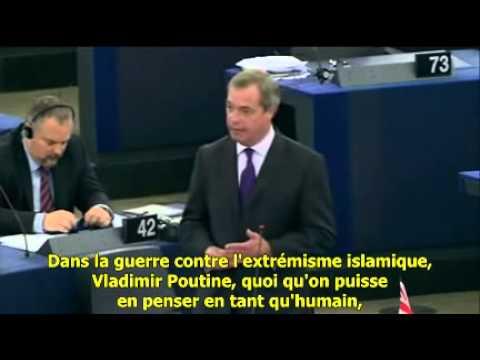 La - Nigel Farage accuse les pro-européens d'avoir aidé les ukrainiens à préparer le coup d'état qui a débouché sur le renversement du président Yanukovych. Si nous voulons une guerre avec...