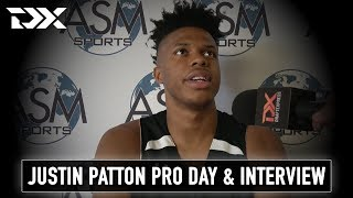 Justin Patton Pro Day Workout and Interview