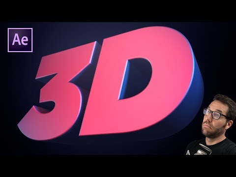 After Effects 3D Text Animation Tutorial NO PLUGINS! | Greyscalegorilla