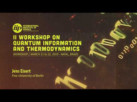From thermalization to thermal machines - Jens Eisert