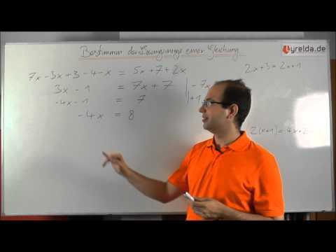 lineare Gleichungen