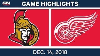 NHL Highlights | Senators vs. Red Wings - Dec 14, 2018 by Sportsnet Canada