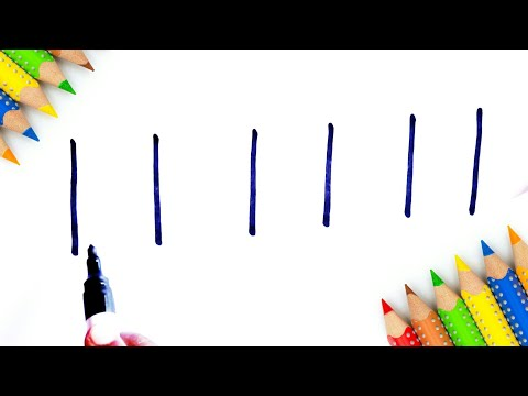 How To Turn Number 111111 Into School Bus - Learn Doodle Art on Paper For Kids