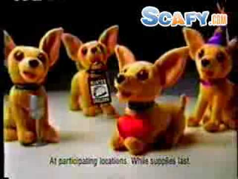 scafy - http://www.scafy.com ... Funny commercials First Chalupa Commercial with a talking Chihuahua.