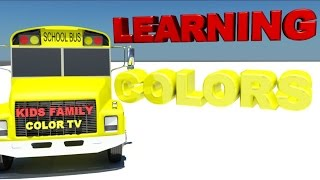 Learn Color for Kids Bus Finger Family Song - Colours for Kids to Learn Videos