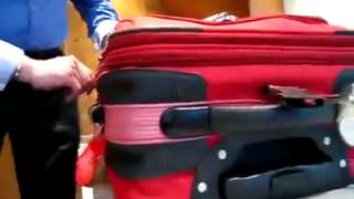 Как открыть чемодан с замком на молнии