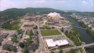 Edmundston (NB) Canada  city photos gallery : Drone Flying Over Edmundston New Brunswick