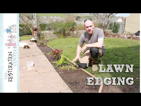 Making Lawn Edging and Flower Beds | TRC Garden (видео)
