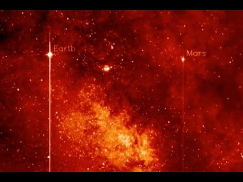Earth, Mars, Pluto and Milky Way Seen By Spacecraft   Video