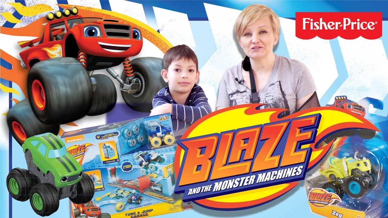 Zabawki Blaze i Mega Maszyny od Fisher-Price