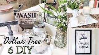 FARMHOUSE BATHROOM DECOR | DOLLAR TREE DIY