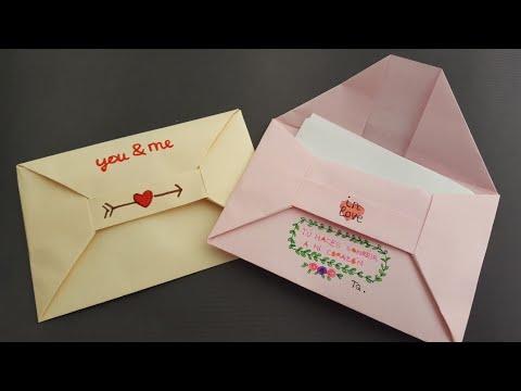 Cómo hacer un 📩 SOBRE 📩 para carta | Origami PASO A PASO