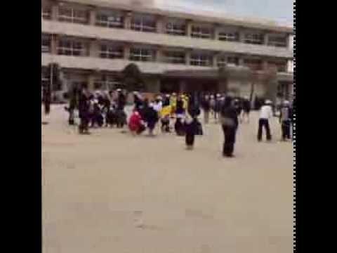 千代田西部小学校の なわとび大会2014.2 【?弟子丸建設 二代目】