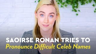 Video Saoirse Ronan Tries to Pronounce Difficult Celeb Names MP3, 3GP, MP4, WEBM, AVI, FLV Maret 2018