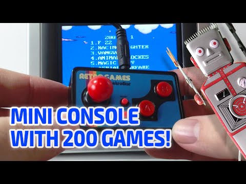 MINIATURE RETRO TV CONSOLE WITH 200 GAMES! Really works!