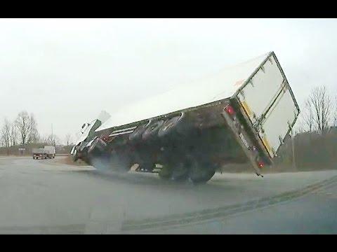 Как положить грузовик (Аварии грузовиков, тематическая подборка)