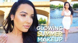Glowing Summer Makeup Tutorial | My Go To Look ♡ - YouTube