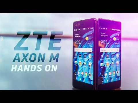ZTE Axon M Hands On: Two Screens for Twice the Fun (видео)