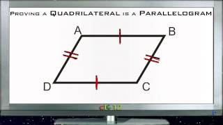 Proving a Quadrilateral is a Parallelogram: Lesson (Basic Geom...