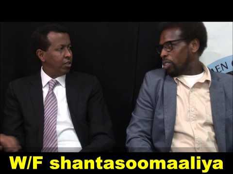 Yuusuf Garaad iyo Dr Amaandhoorey oo si dareen leh isu eegay Warfidiyeenka shantasoomaaliya