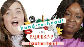 Shrill's' Aidy Bryant & Lolly Adefope Chug Expensive Champagne at 10 AM   Expensive Taste Test by Cosmopolitan