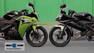 Yamaha YZF-R15 Vs Honda CBR 150R : ChooseMyBike.in Review