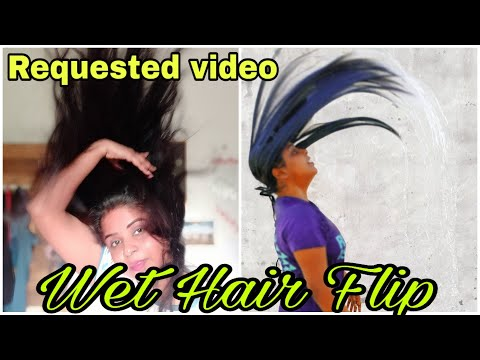 Hair flip | Wet hair flip in slow motion part2 Requested video | Varsha beauty care