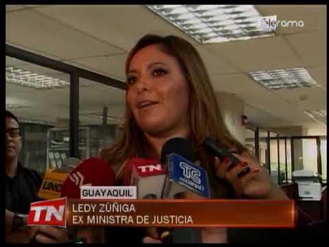 Ex Ministra Ledy Zuñiga rindió versión en caso Valdiviezo