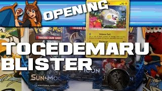 TOGEDEMARU TIME! Opening a Sun and Moon Pokemon Card Togedemaru Blister with Three Packs! by Flammable Lizard