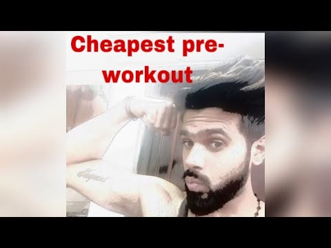 cheapest pre-workout and fat burner