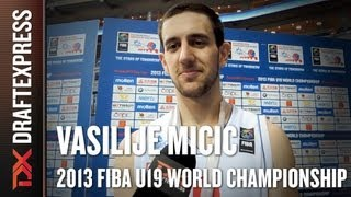 Vasilije Micic Interview at the 2013 FIBA U19 World Championship in Prague