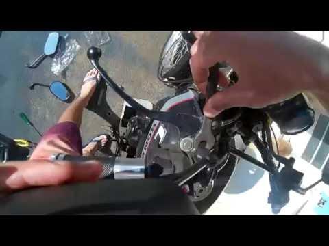troca de óleo e retrovisor da cbx 150 aero