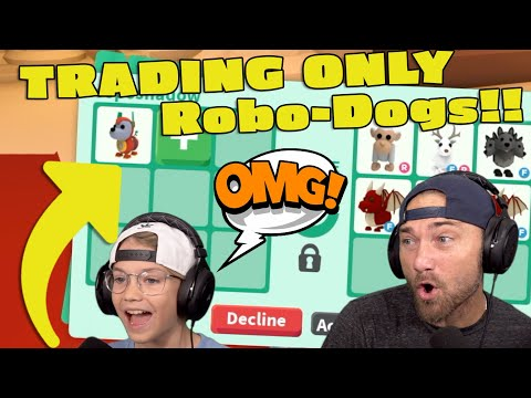Trading ONLY Robo-Dogs!! Roblox Adopt Me!!