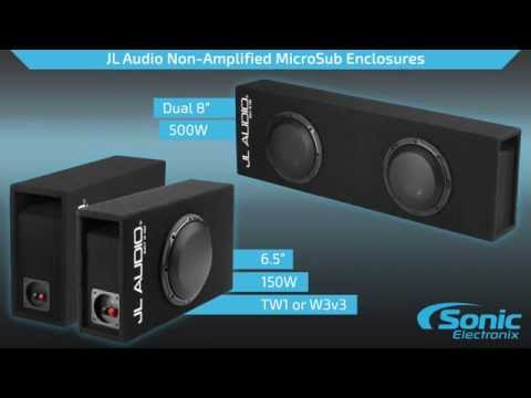 JL Audio MicroSub Ported Loaded Subwoofer Enclosures | Product Overview