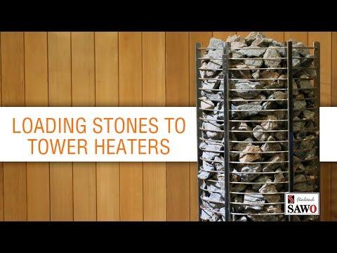 Tower heater - stones
