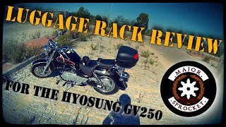 8. Review of the hyosungwholesale.com luggage rack for the Hyosung GV