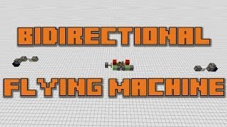 Automatic Bidirectional Flying Machine in Minecraft - Tutorial