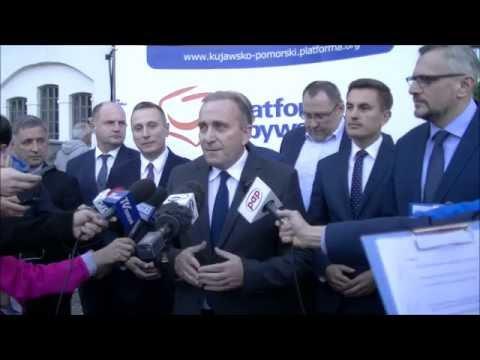 Konferencja PO przed konwencją w Toruniu