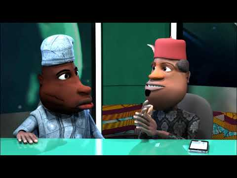 Funny Nigerian Cartoon Comedy: Ichie Becomes A Pastor (N-Report) (C) Blackhouse Animation Studios